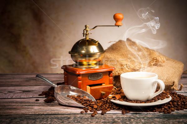 кофе натюрморт текстуры продовольствие Сток-фото © Jag_cz