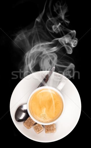 Tasse de café café alimentaire fond déjeuner tasse Photo stock © Jag_cz