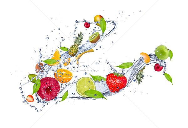 Fruits frais fruits isolé blanche Photo stock © Jag_cz
