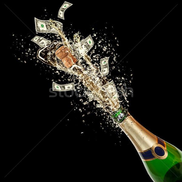 ünneplés esemény dollár bankjegyek csobbanás ki Stock fotó © Jag_cz