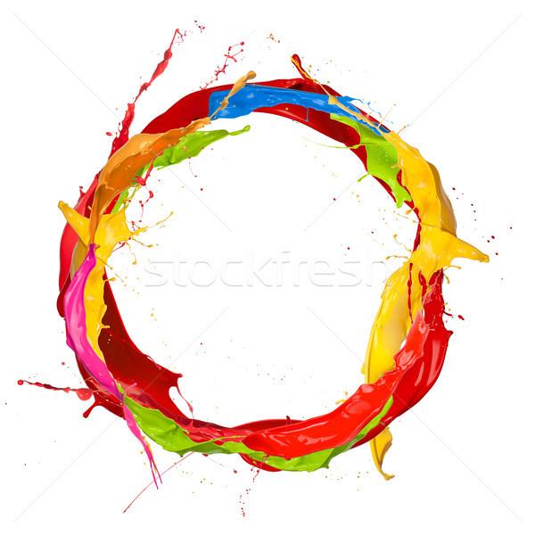 Сток-фото: круга · изолированный · белый · аннотация