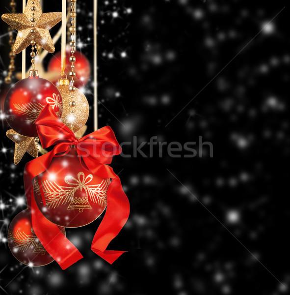 Рождества красный стекла черный аннотация Сток-фото © Jag_cz