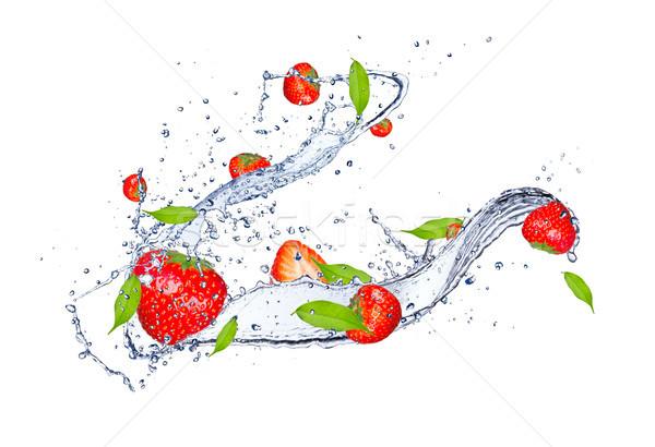 Fruits frais fraîches fraises isolé blanche Photo stock © Jag_cz