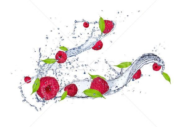 Fruits frais fraîches framboises isolé blanche Photo stock © Jag_cz