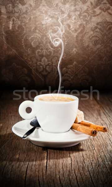 кофе натюрморт Гранж дизайна стекла пить Сток-фото © Jag_cz