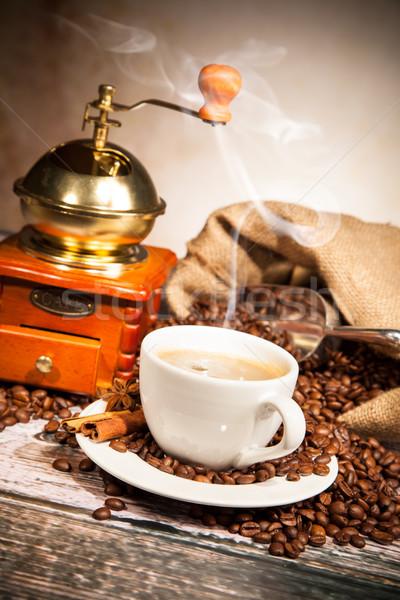 Сток-фото: кофе · натюрморт · текстуры · продовольствие