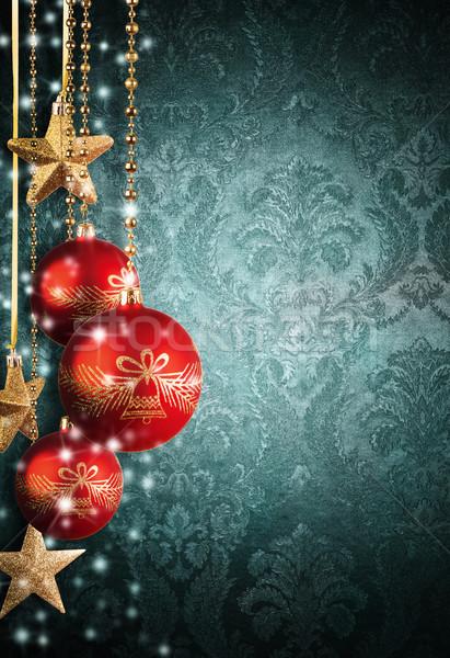 Noël décoratif résumé mur libre espace Photo stock © Jag_cz
