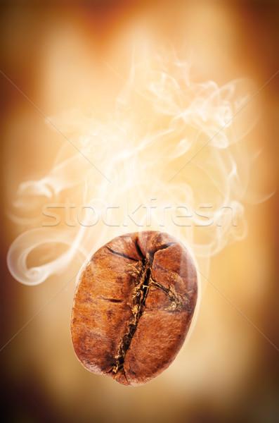 Battant grain de café fumée café fond café Photo stock © Jag_cz