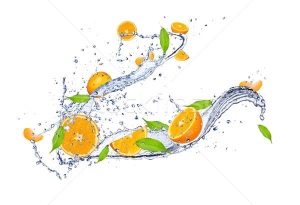 Fruits frais fraîches oranges isolé blanche Photo stock © Jag_cz