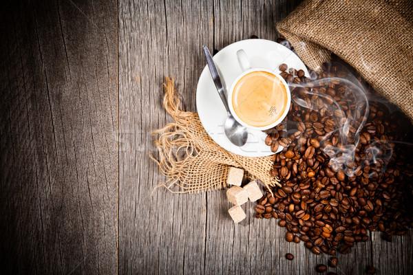 Сток-фото: кофе · натюрморт · поверхность · древесины · фон