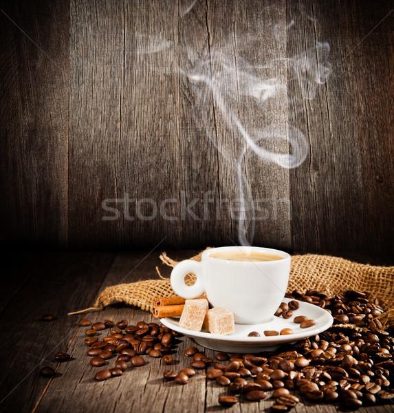 кофе натюрморт свободный пространстве текста стекла Сток-фото © Jag_cz
