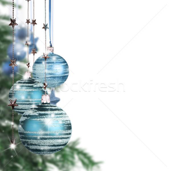 Noël décoratif libre espace texte arbre Photo stock © Jag_cz