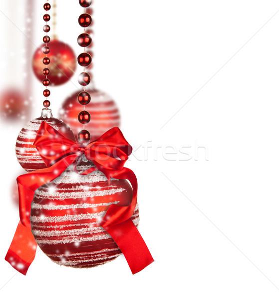 Рождества красный изолированный белый фон Сток-фото © Jag_cz