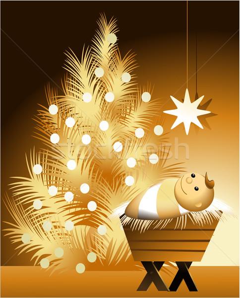 Christmas scene with baby Jesus  Stock photo © jagoda