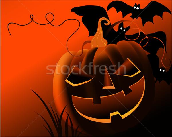 Halloween natuur licht donkere vakantie Stockfoto © jagoda
