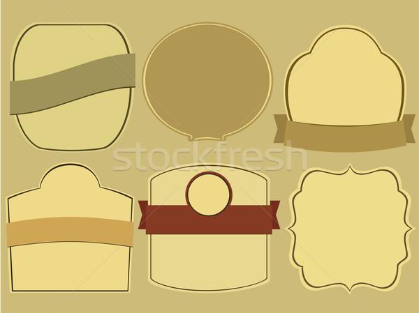 ヴィンテージ ラベル セット 単純な テクスチャ 芸術 ストックフォト © jagoda