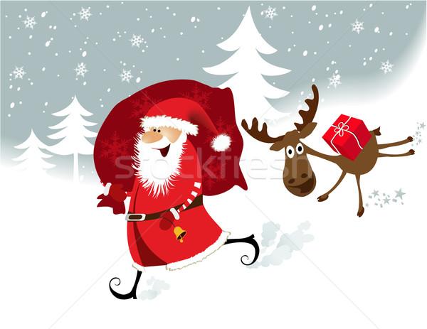 Papai noel natal vetor estrela branco férias Foto stock © jagoda