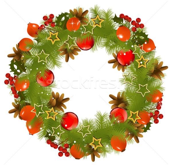 Natal grinalda decorado naturalismo elementos Foto stock © jagoda