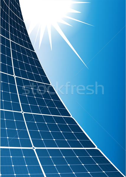 ストックフォト: 太陽 · コレクタ · インストール · 屋外 · エネルギー · 電気