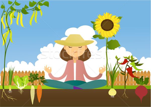 Tuin plaats plezier tuinieren meditatie hobby Stockfoto © jagoda