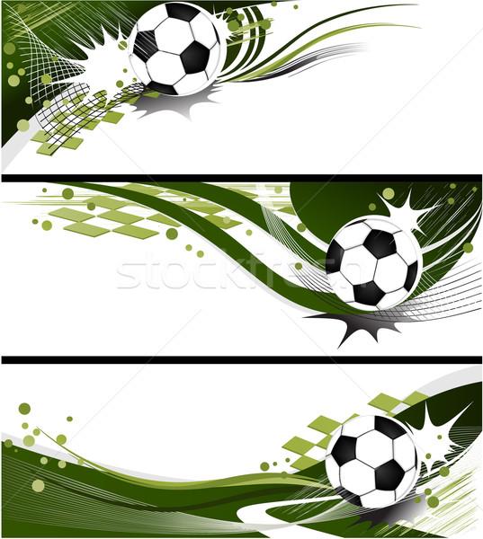 Fútbol banners resumen diseno deportes marco Foto stock © jagoda