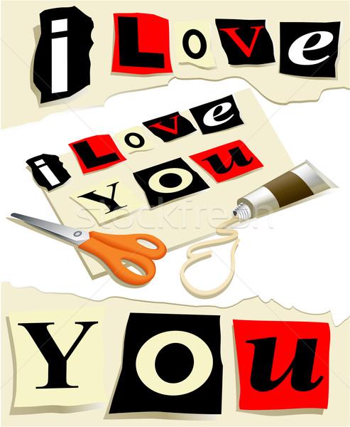 Love message Stock photo © jagoda