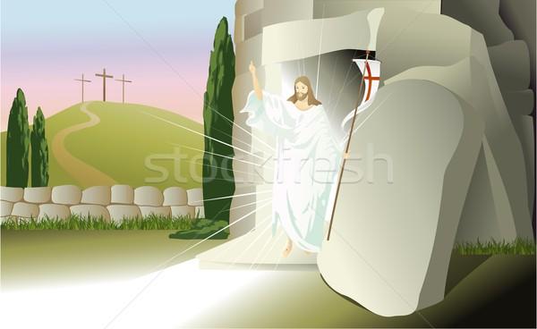 Stock photo: Resurrected Jesus Christ