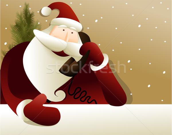 ストックフォト: サンタクロース · クリスマス · 雪 · 冬 · 休日 · イベント
