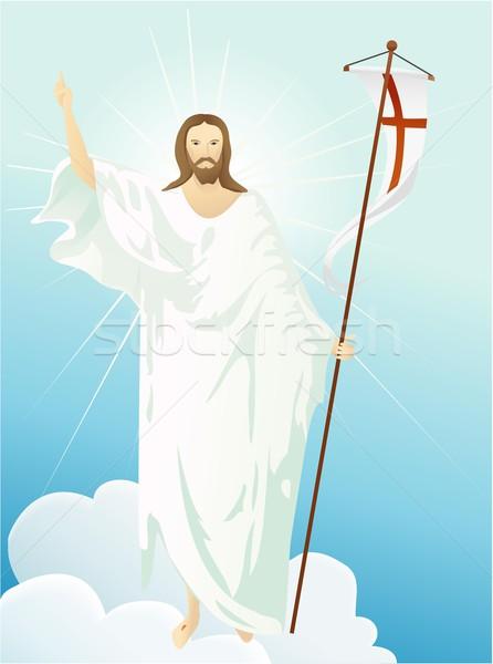 Jesus cristo glória páscoa fundo homens Foto stock © jagoda