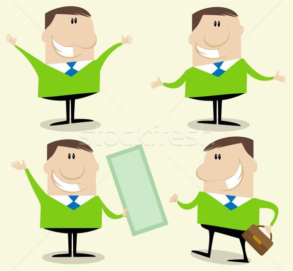 Businessman counselor character Stock photo © jagoda