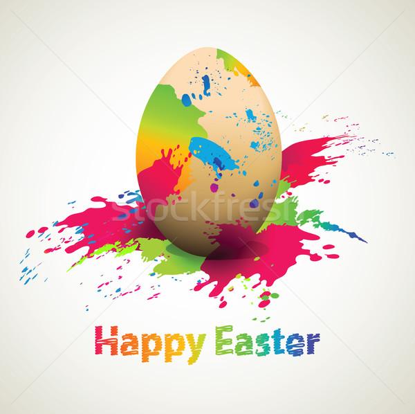 Abstrato ovo de páscoa páscoa ovo primavera feliz Foto stock © jagoda