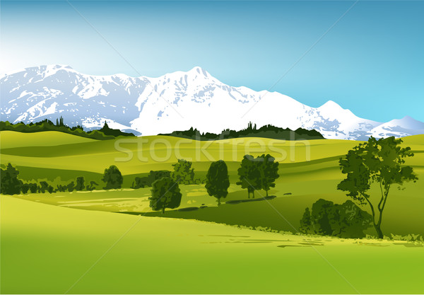 Rural landscape with mountains Stock photo © jagoda