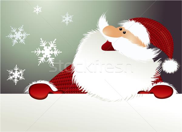 クリスマス サンタクロース 休日 面白い ツリー 笑顔 ストックフォト © jagoda