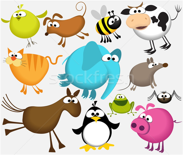 Stock photo: Funny cartoon animals