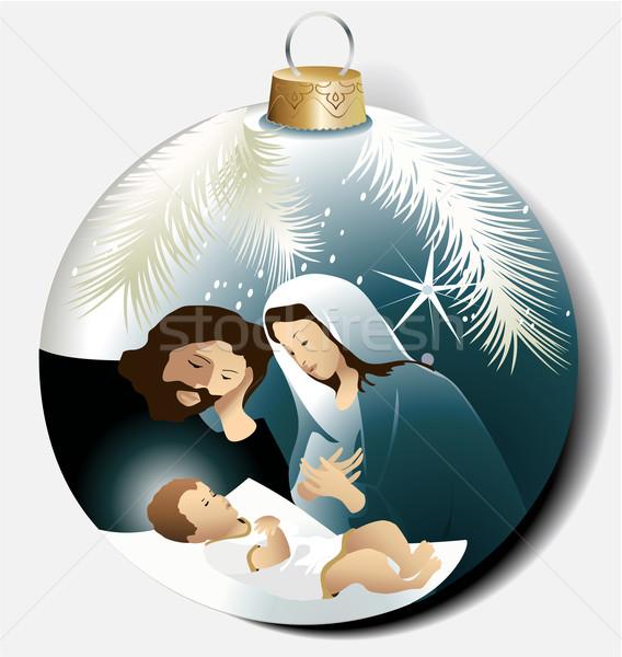 Christmas ball with Holy Family  Stock photo © jagoda