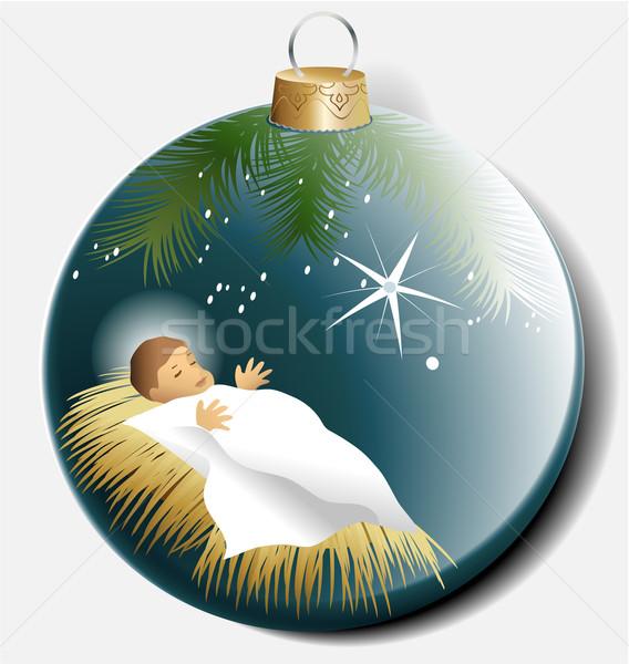 Natal bola bebê jesus tradicional religioso Foto stock © jagoda