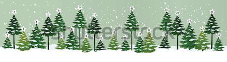 Advent naptár karácsonyfa tájkép háttér tél Stock fotó © jagoda