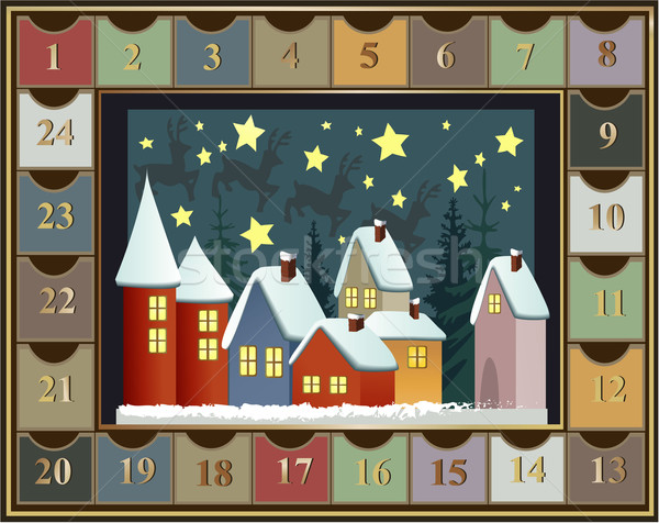 Advent calendar Stock photo © jagoda