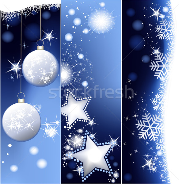 Blue Christmas banners Stock photo © jagoda