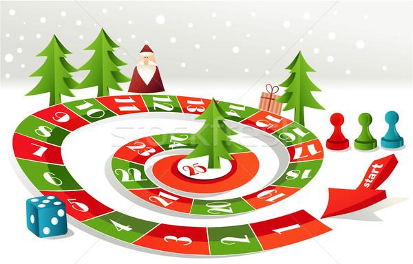 Avvento calendario Natale albero sfondo Foto d'archivio © jagoda