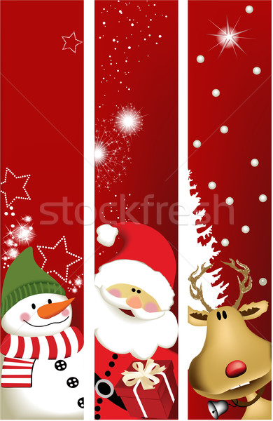 Stock photo: Christmas banners