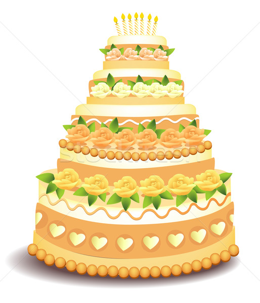 Big cake Stock photo © jagoda