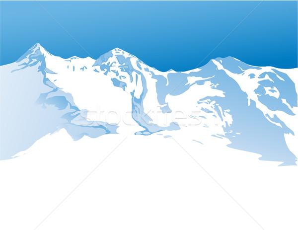 Inverno montanhas natureza neve esquiar ao ar livre Foto stock © jagoda