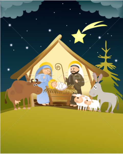 Christmas nativity scene Stock photo © jagoda