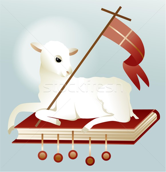 Easter lamb of God Stock photo © jagoda