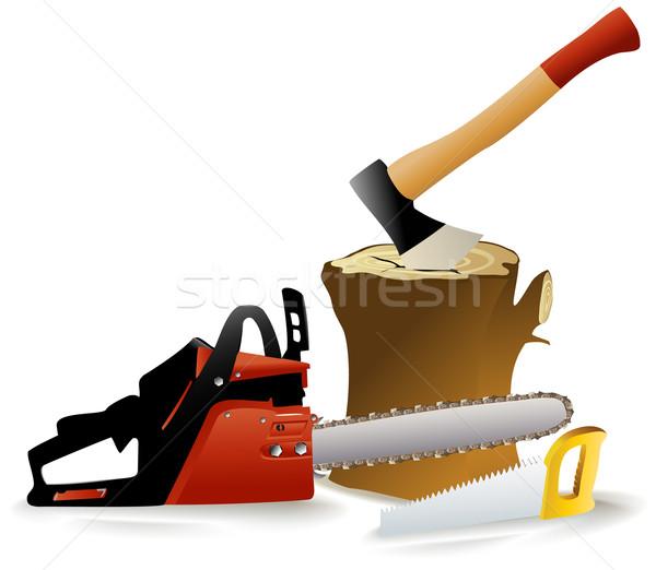 Woodcutter's tools Stock photo © jagoda