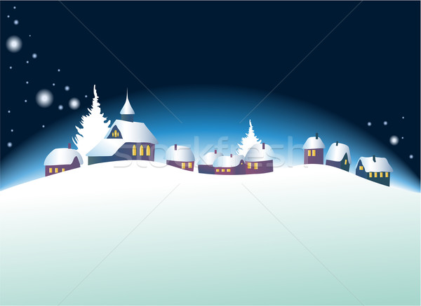 Christmas landscape Stock photo © jagoda