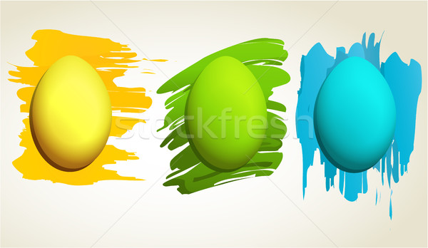 抽象的な イースターエッグ イースター 卵 春 幸せ ストックフォト © jagoda