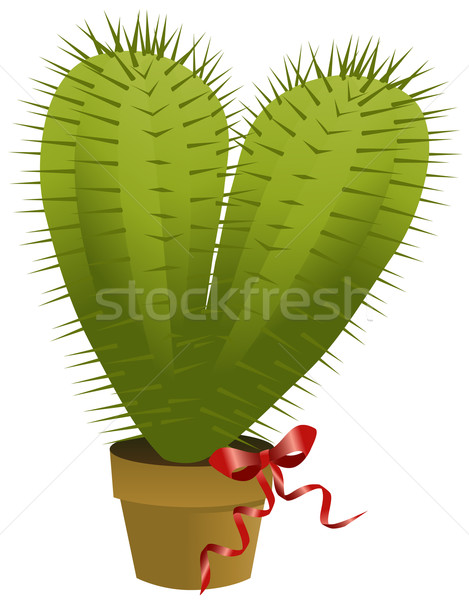 Valentine's cactus Stock photo © jagoda