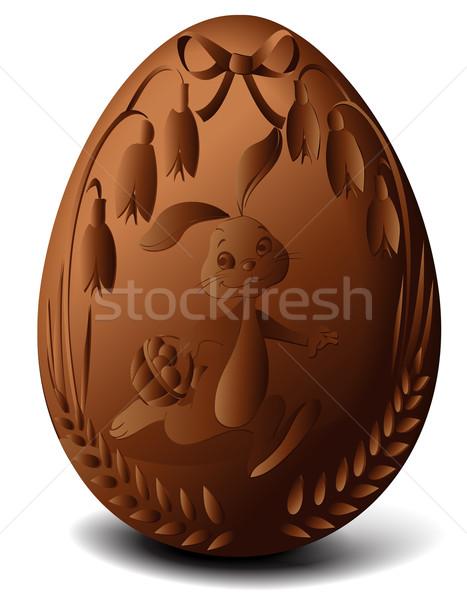 Easter chocolate egg Stock photo © jagoda